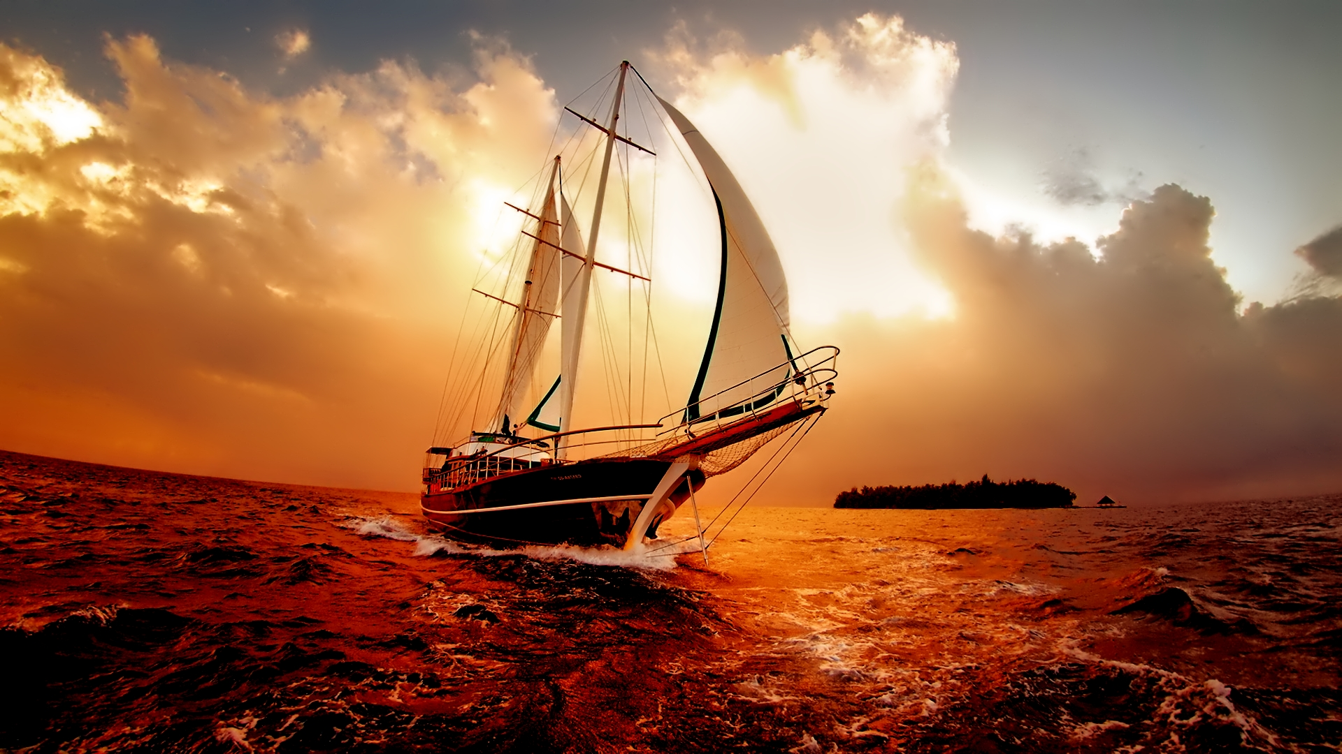 Sailboats HD Desktop Background